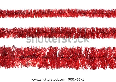 Tinsel isolated on a white background - stock photo