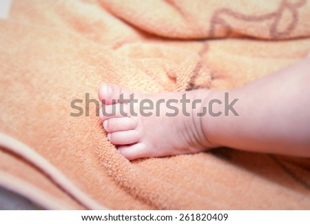 tiny little feet - stock photo