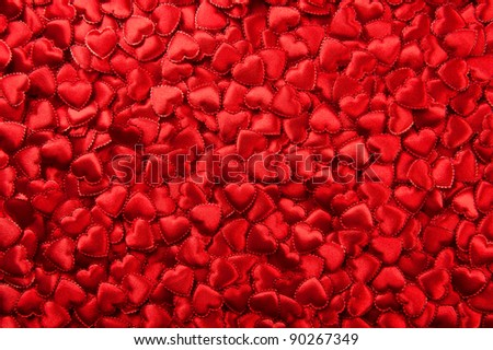 Tiny red hearts background - stock photo