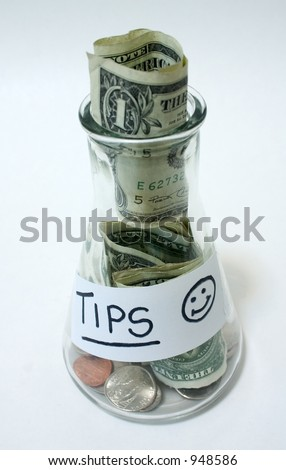 Tip Jar - stock photo