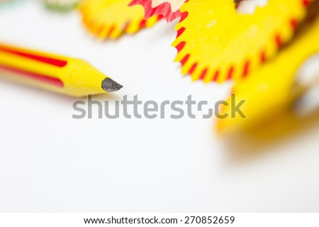 tip of a pencil. close-up, shallow depth of field - stock photo
