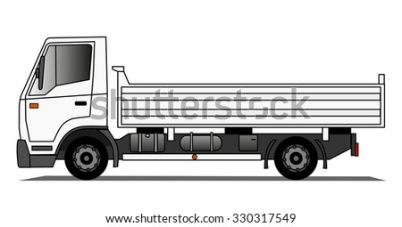 Tipping truck - stock photo