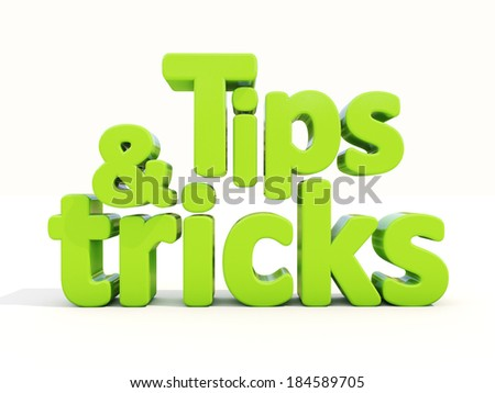 Tips and tricks icon on a white background. 3D illustration. - stock photo