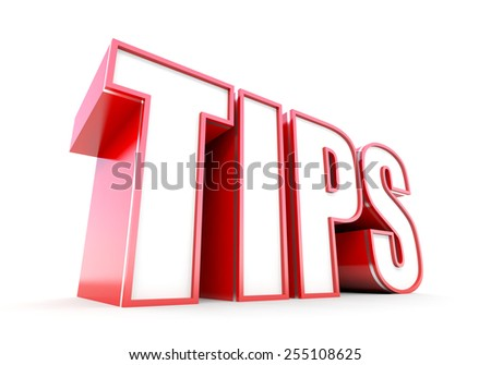 Tips red tag - stock photo