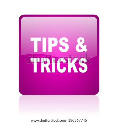 tips violet square web glossy icon - stock photo