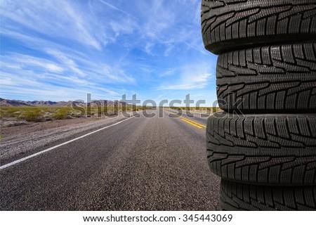 Tire. - stock photo