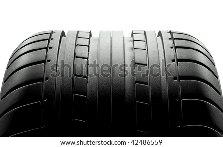 Tire close up. High resolution 3d render. - stock photo