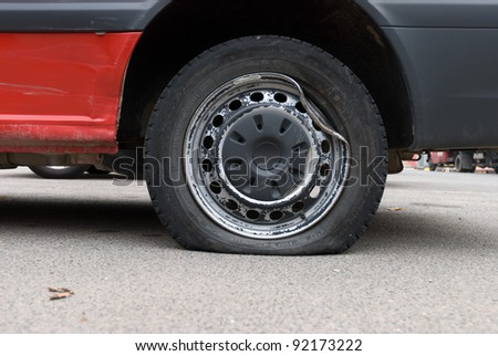Tire damage or puncture