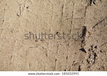 tire dirt; traces of transport; traces of technique - stock photo