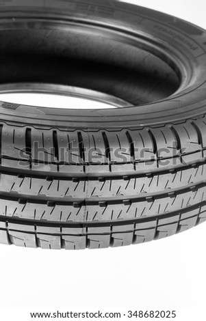Tire isolated on white background.