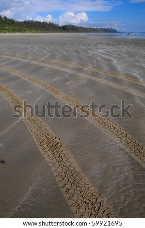 Tire marks on Sand