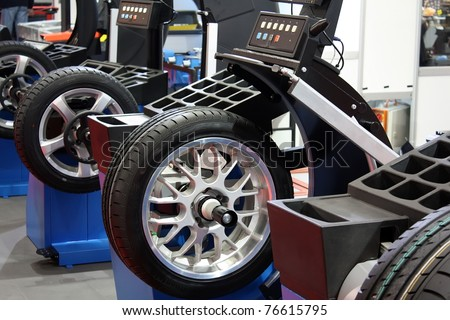 tire service - stock photo