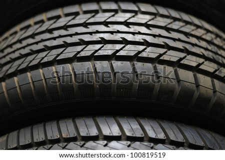 Tire stack - stock photo