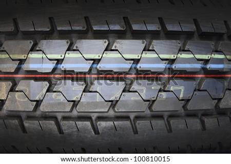 Tire texture - stock photo