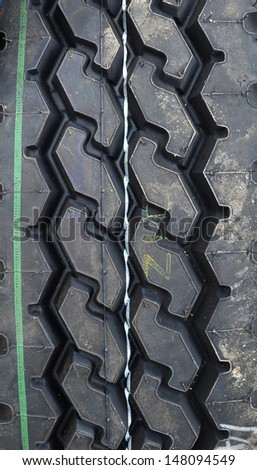 Tire texture - stock photo