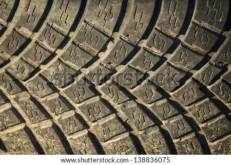 tire tread - stock photo