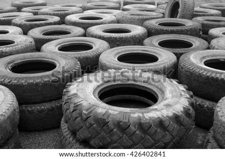 tire warehouse - stock photo