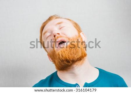 Tired businessman  - stock photo