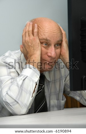 Tired chief - stock photo