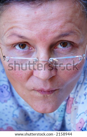 Tired expression 2 - stock photo