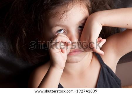 Tired girl - stock photo