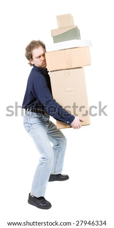 Carrying Heavy Load Stock Images Royalty Free Images