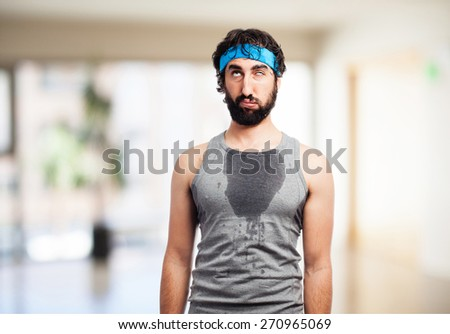tired sportsman - stock photo
