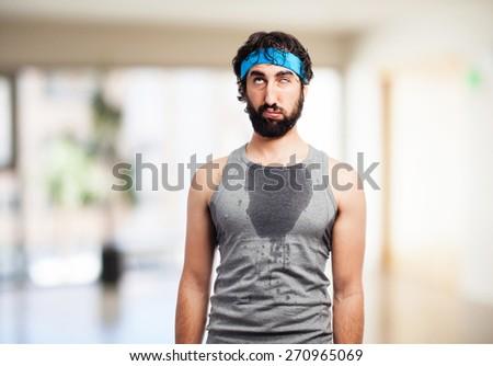 tired sportsman - stock photo