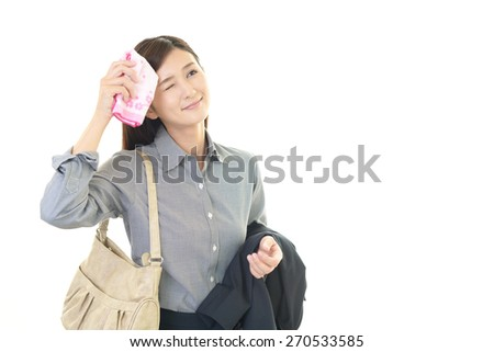 Tired young woman - stock photo