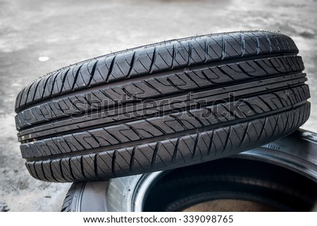 Tires for trucks isolated on white background. - stock photo