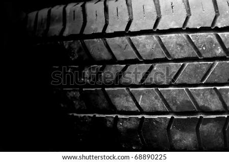 Tires used black concept Secondhand recycle - stock photo