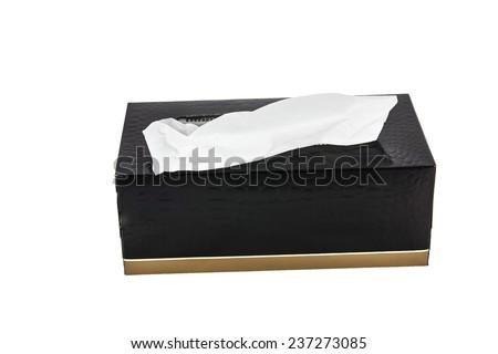 Tissue box isolated on white background - stock photo