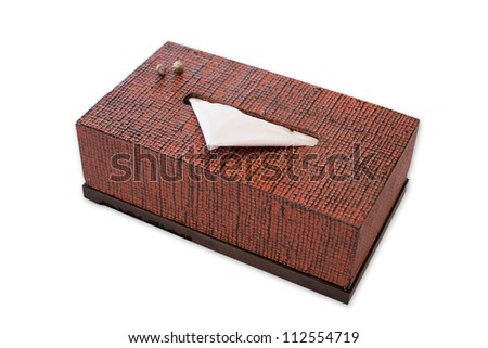 Tissue box on white background - stock photo