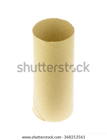 Tissue core on white background