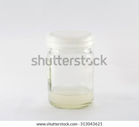 Tissue culture bottle on background