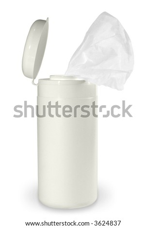 Tissue destinated for computers screen cleaning. (with clipping path) - stock photo