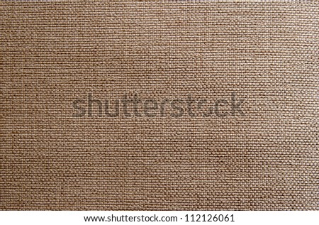 Tissue of Burlap in the horizontal composition