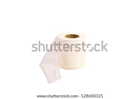 Tissue paper was placed on a white background.