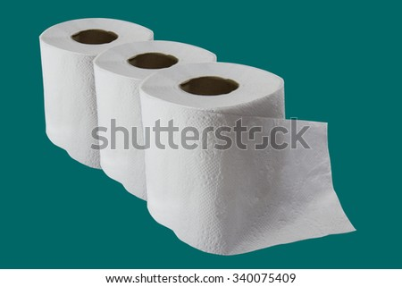 tissue roll on  background