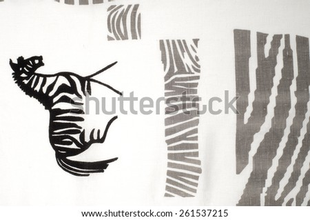 tissue, textile, cloth, fabric, material, texture. zebra . cloth, typically produced by weaving or knitting textile fibers. - stock photo