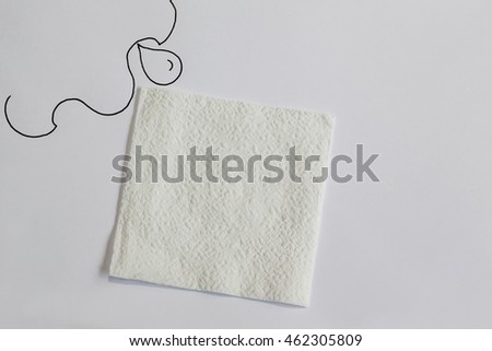 Tissues paper on white background