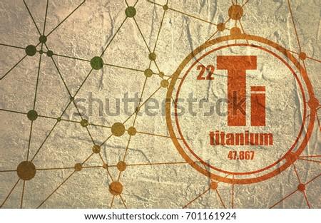Titanium chemical element sign atomic number stock illustration titanium chemical element sign with atomic number and atomic weight chemical element of periodic urtaz Images