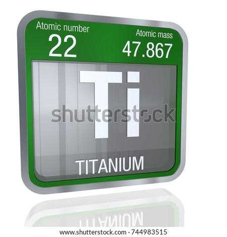 Titanium symbol square shape metallic border stock illustration titanium symbol in square shape with metallic border and transparent background with reflection on the floor urtaz Choice Image