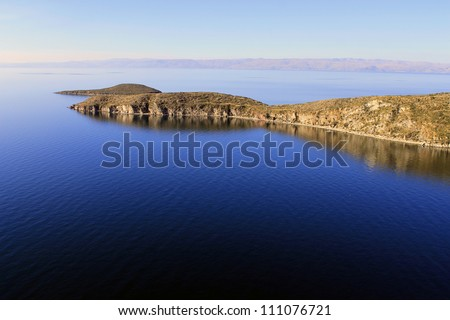 Titicaca Lake, Bolivia, Isla del Sol landscape. - stock photo