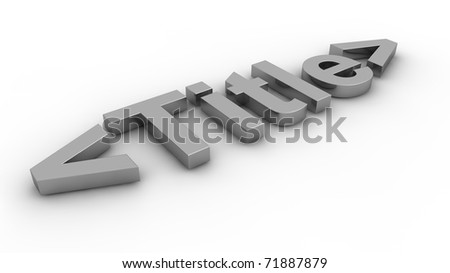 Title concept - stock photo