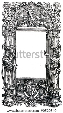 Title-page Holbach, around 1540 - an illustration of the encyclopedia publishers Education, St. Petersburg, Russian Empire, 1896 - stock photo