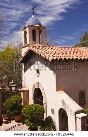 Tlaquepaque Chapel in the heart of Sedona, Arizona - stock photo