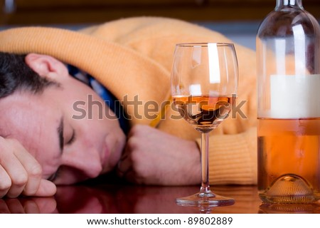 to be drunk - stock photo