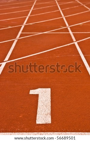 To be Number one Race Track, Abstract - stock photo