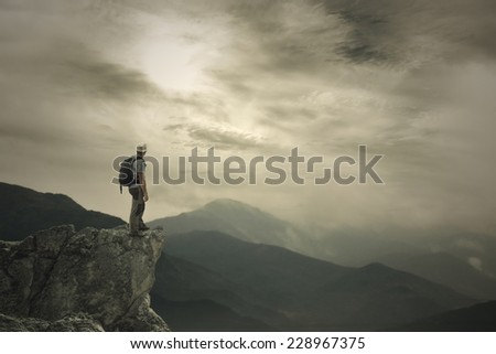 To be on the Summit - stock photo